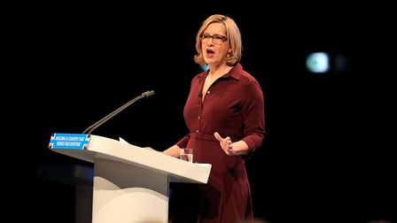 Home secretary Amber Rudd speaks at the Conservative party conference in Manchester. Picture: Peter