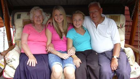Left to right: Jean Gardiner, granddaughters Georgina and Jess, and husband Walter. Picture: Gardine