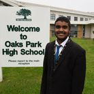 Virusan Kathan, from Oaks Park High School, was nominated for the Young Citizen award in September.