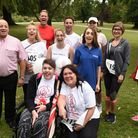 First Step staff and supporters photographed at the charity's first Havering Step 2 It 5k fun run, a