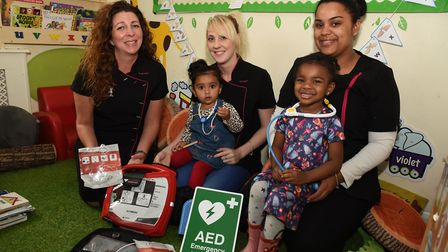 Scallywags Nursery have a public-use defibrilator after a child collapsed earlier this year. Staff E