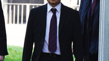 Romford GP Dr Manish Shah arriving at Barkingside Magistrates Court to face charges of 118 sexual as