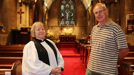 Rev Marion Williams with church warden Mike Willcocks. Picture: Melissa Page