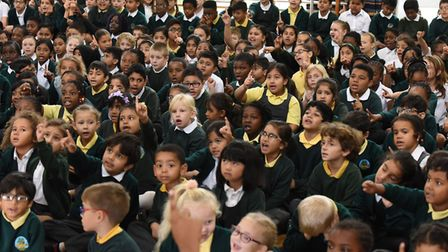 Glade Primary School celebrating World Peace Day with a special assembly