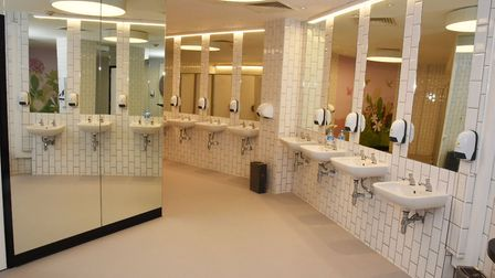 The new womens toilets in the Exchange