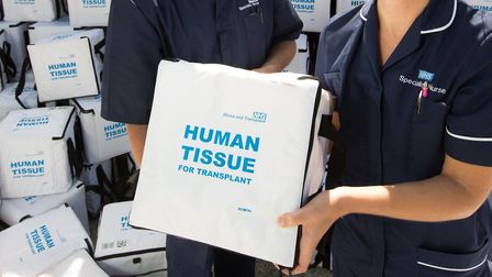 An NHS Blood and Transplant tissue transport box. Photo: NHS Blood and Transplant