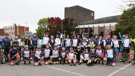Queens Theatre, Billet Lane, Hornchurch - Hornchurch Cycle Club feature.Photos of riders gathering