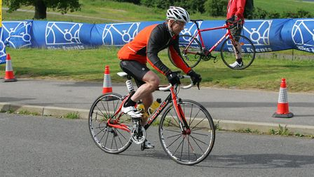 Riders at the Essex county bike ride set off from Redbridge cycling centre