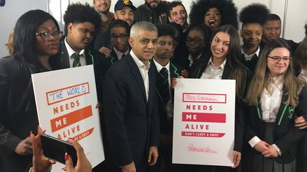 Mayor of London Sadiq Khan was joined by grime artist Yungen, urban poet Hussain Manawer, blogger Th