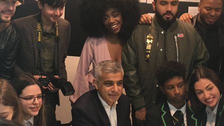 The mayor and social media stars meet young people at the launch. Picture: Emma Youle