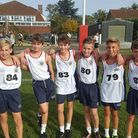 The Coopers Coborn junior boys cross country team face the camera (pic: Coopers Coborn)