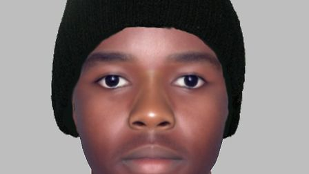 E-fit of suspect in attempted robbery and sexual assault incident in Fentons Avenue, Newham (Picture