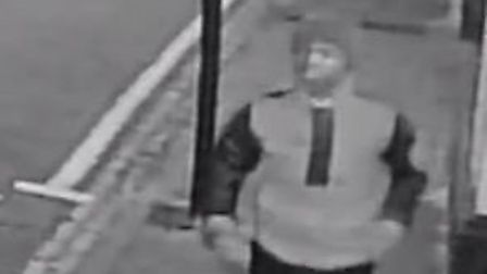 CCTV image of man police want to identify after an attempted robbery and sexual assault in Fentons A