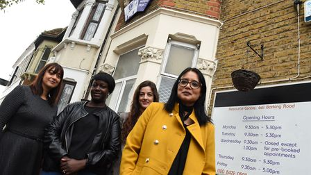 Baljit Banga (right) and her team at London Black Women's Project, (from left) Parm Bhambra, Frida L