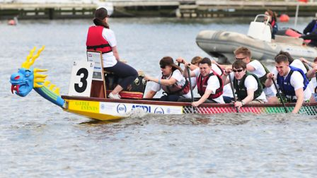 Action from the last East Anglian Dragon Boat festival on Oulton Broad, Lowestoft in 2013.