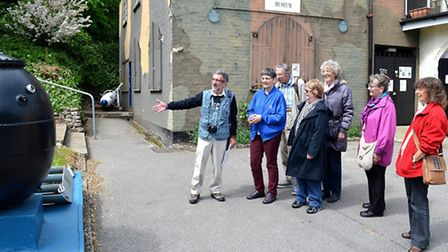 Ivan Bunn speaks to visitors on the guided walk. Picture: Mick Howes