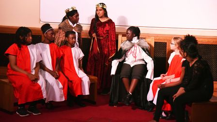 Children performing a work by the real Shakespeare. Picture: Ken Mears