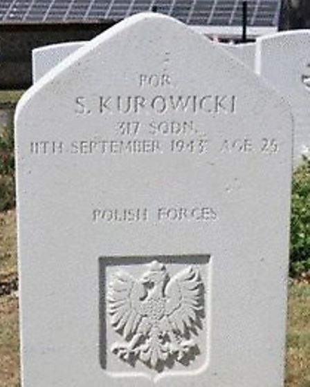 The grave of Stanislaw Kurowicki in St. Marie Cemetery, Le Havre. Picture: Polish Air Force