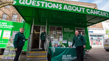 Macmillan's cancer information and support bus (Picture: Glyn Collins)