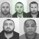 Five men have admitted being part of £16m money laundering operation in Woodford Green. Clockwise fr