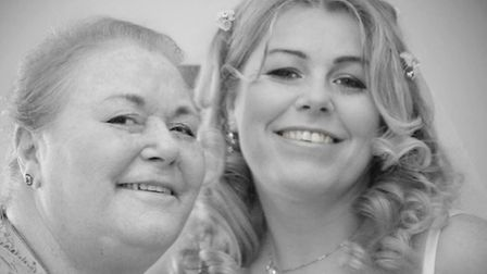 Lisa Williams (right) with her mother Maria Harrison on her wedding day.