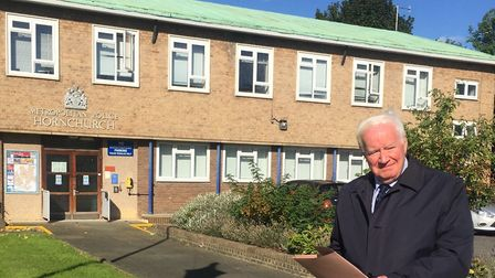 Councillor Roger Ramsey at Hornchurch Police Station. Picture: Havering Council