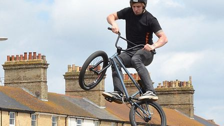 A BMX display rider. Pictures: Mick Howes