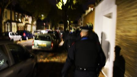 Police raid. Picture: Ken Mears