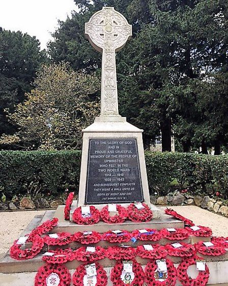 The people of Upminster commemorate Remembrance Day. Picture: Clarence Barrett