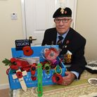 Mick Mellor, 81, is a Poppy Appeal collector for the Elm Park Royal British Legion. Picture: Ken Mea