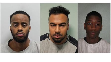 Sami Omar, Suleman Mohamed and Jordi Kibusi, who have been found guilty of murdering Abdi Sheikhey.