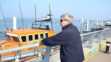 Neill Rush, who made a significant donation to the Thames Class Lifeboat Trust