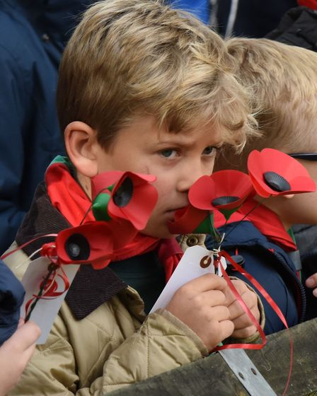 A young guest at Wanstead's 2016 Remembrance service. Picture: Ken Mears