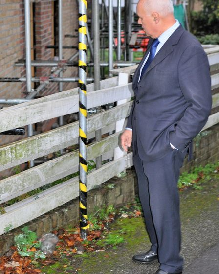 Iain Duncan Smith at the development in Whitehall Road, Woodford Green. Picture: Tabitha Wade