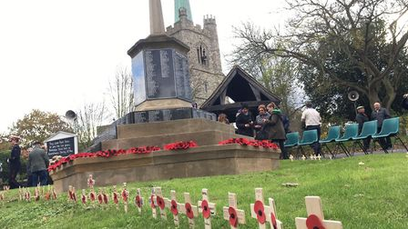 Hornchurch paid its respects to the fallen at a poignant Remembrance Day ceremony at St Andrew's Chu
