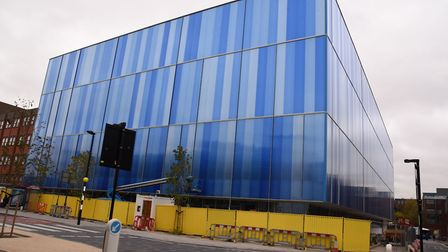 Work being carried out to complete the Romford Leisure Centre.