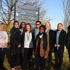 Beal High School pupil Aliyah Haynes with staff from the school and hospital. Picture: Ken Mears