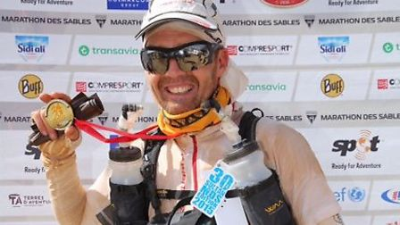 Mark Nussey with his medal. Pictures: Submitted