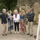 The judges and presenters filming series three of the Sky Arts programme Landscape Artist of the Yea