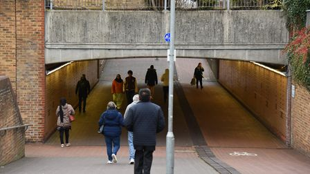 The pedestrian subway leading from Cineworld to Albert Road in Ilford which has seen a rise in crime