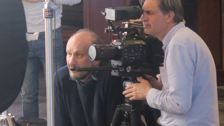 Wall to Wall Production's Tim Kirby (left) directs his cameraman for 'Blitz: The Bombs That Changed