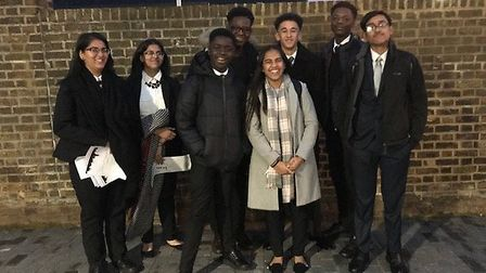 Lister Community School students outside the Model United Nations conference. Picture: Lister Commun