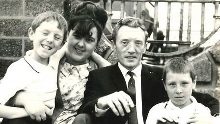 Shirley Bull with her husband and sons. Picture credit: Kevin Bull.