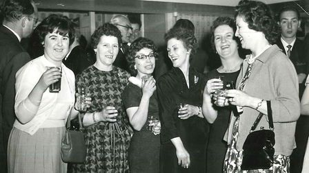 Shirley Bull enjoying a night out wiht friends. Picture credit: Kevin Bull.