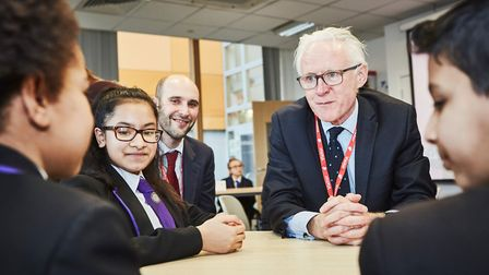 Rt Hon Norman Lamb MP for North Norfolk visited two schools in Newham to meet with young people work