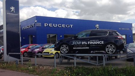 M R Kings & Sons at Lowestoft is running the Peugeot Head to Head Challenge which allows customers t