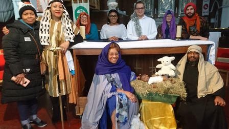 Volunteers dressed up to help immerse children in the nativity story Picture: Alice Probert