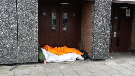 Homeless sleeping rough in Ilford town centre