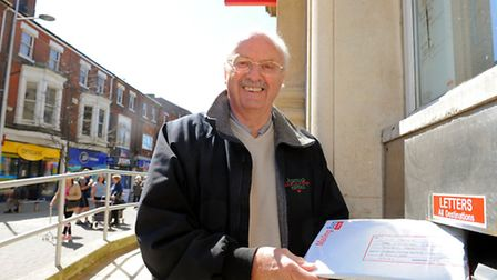 Lowestoft resident Mike Holroyd posting off the results of his petition into which option people wan