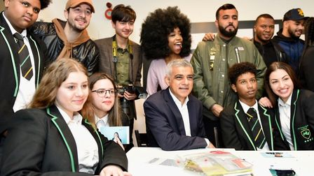 Mayor of London Sadiq Khan is joined by grime artist Yungen, poet Hussain Manawer, blogger The Slumf